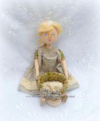 Комплект бохо  кукла и браслет
