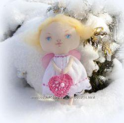 Пасхальный подарок - кукла текстильный ангел