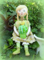 Домовушка, хранительница комнатных растений - текстильная кукла, авторская