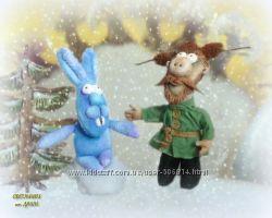 Мужик и заяц, мультфильм Падал прошлогодний снег, авторская работа