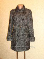 Пальто шерстяное , твидовое в елочку р. 10-14 Jasper Conran