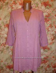 Блуза-рубашка удлиненная  хлопок р. 10-12