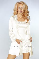 JACQUELINE домашний комплект молочного цвета халат пеньюар и стринги