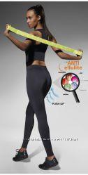 Яркие красочные и анти целлюлитные леггинсы для спорта