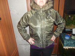 женская утепленная куртка, с капюшоном, красивая