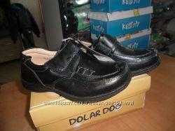 Симпатичные кожанные туфли  р. 26   Dolar Dog