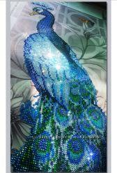 Алмазная вышивка павлин