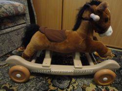 Очаровательная лошадка-качалка-каталка от Kiddieland