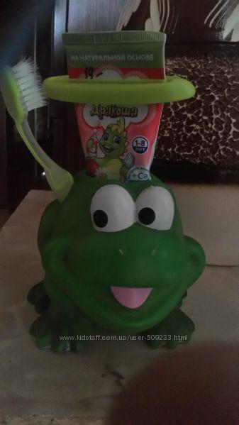 подставка-жабка для зубных щеток и жабка-крючок