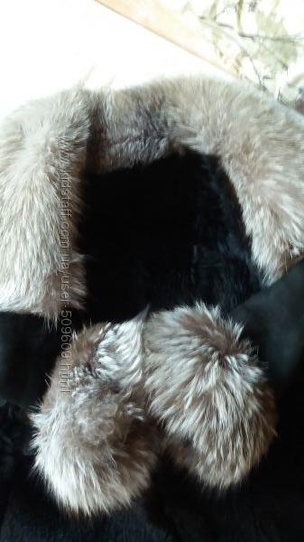 Дубленка с мехом чернобурки