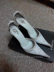 Туфли свадебные  Pier Lucci 36 размер на стопу 24 см, Кожа , Италия