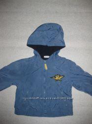 куртка ветровка на подкладке, 9-12 мес, Дино