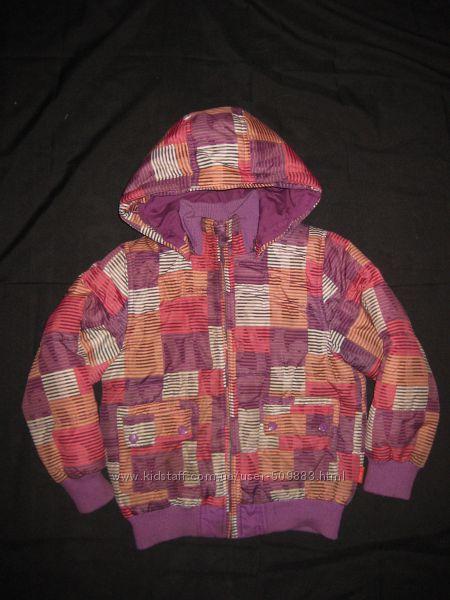 красивая яркая куртка на 7-8 лет, еврозима