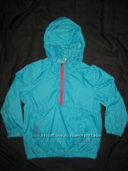 яркая куртка дождевик на 5-6 лет Esprit, бирюзовая