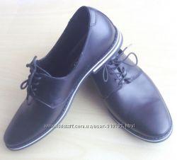 Туфли на шнурке, чб подошва