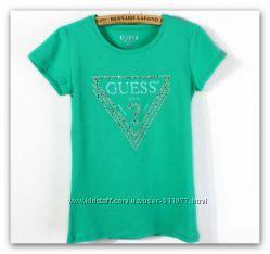 В наличии женские футболки GUESS со стразами, качественная копия бренда
