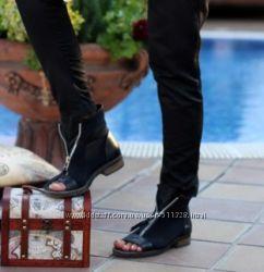 Супер стильные летние ботильоны. Пошив обуви