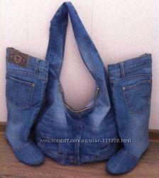 Пошив обуви Джинсовые сапоги и сумки