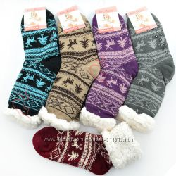 Термо носки с подошвой, женские