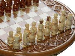 Шахматы круглые. Ручная работа. Эксклюзив