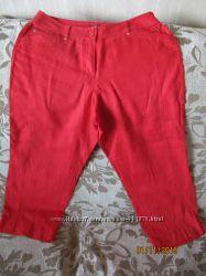 Капри женские 100 лен красного цвета  48 р.