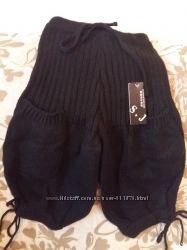 Шерстяные капри с накладными карманами