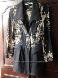 Блуза- жакет, комбиннированая из двух тканей