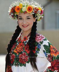 Буковинська святкова вишиванка-заготовка під бісер