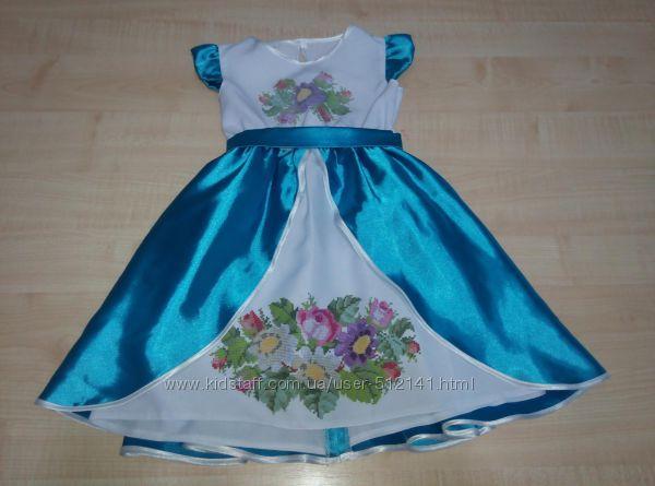 Платье детское под вышивку-пошитое