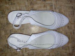 Туфли Reliss летние белые 40р. Натур. кожа