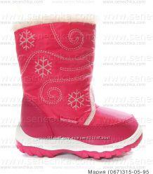 f3e717137 Дутики малиновые для девочек. Зимние дутые сапоги, сноубутсы. Детская обувь