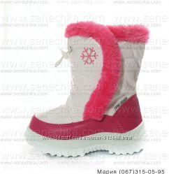 5ebd06cdb Дутики белые для девочек. Зимние дутые сапоги, сноубутсы. Детская обувь.  Зима.