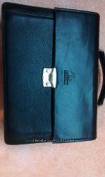 Кожаный портфель-сумка