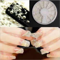 жемчужины для дизайна ногтей в карусельке