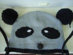 Шапка Панда, демисезонная, двойная, на мальчика