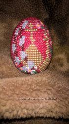 Сувенирное яйцо бисером