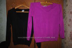 Фиолетовый и чёрный офисный свитерок