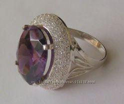 Кольцо КН675МД, серебро 925 пробы, цирконы
