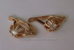 Серьги C00124M, золото 585 пробы, бриллианты 0, 4кт.