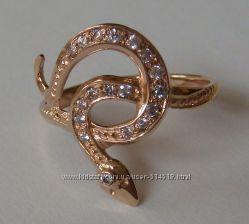 Кольцо 102050ЮМ, золото 585 пробы, кубический цирконий, распродажа.