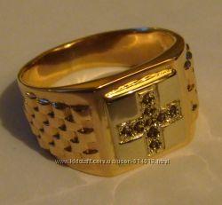 Продам кольцо 3107Г, золото 585 проба, вставки раухтопазы.