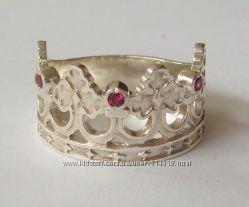 Кольцо Корона, серебро 925 пробы, распродажа.