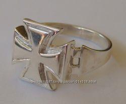Кольцо байкерское 3129Г, серебро 925 пробы