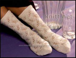Носки вязаные ажурные