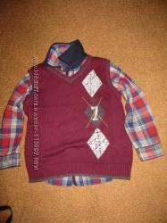 Рубашка с жилетом