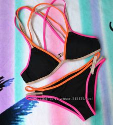 ���������� Victorias Secret Strappy Cross-back Triangle Top ������ S ������
