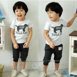 Костюм летний dollars футболка и бриджи для мальчика и девочки