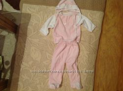 Комплект для младенца  велюровый