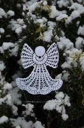 рождественские ангелочки крючком, чудесный подарок