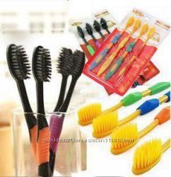 Бамбуковые зубные щетки с угольным напылением Nano Dental Care
